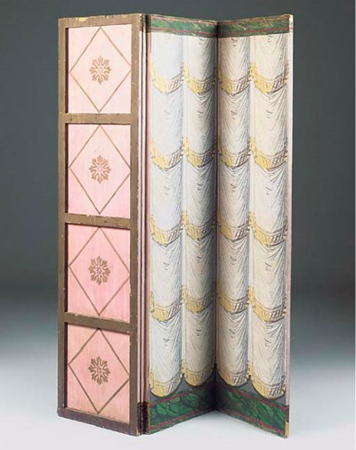 A FRENCH FOUR-PANEL SCREEN