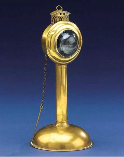 A doctor's brass spirit lamp,
