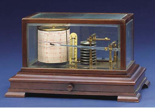 A good mahogany-cased barograp