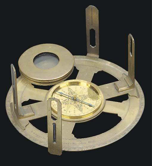 An 18th-Century brass circumfe