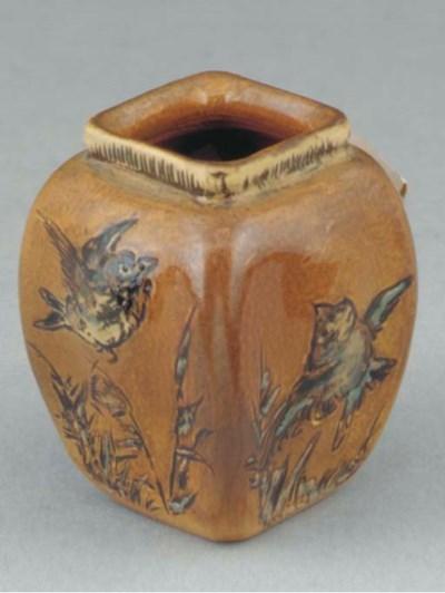 A Miniature Stoneware Vase