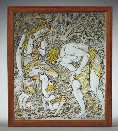 'Labour', A Stained Glass Pane