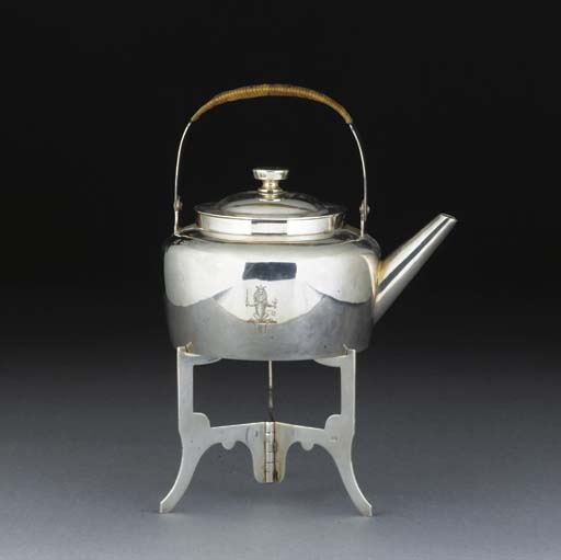 A Silver Kettle and Stand
