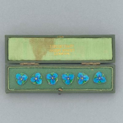 Six Liberty and Co. Enamel But