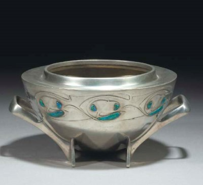 An English Pewter and Enamel R