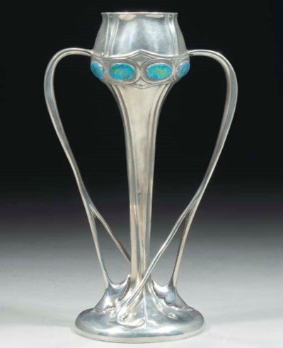 A Tudric Pewter and Enamelled