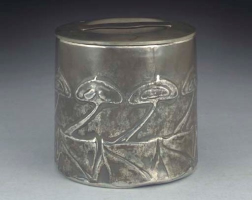 A Tudric Pewter Box and Cover