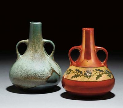 Two Twin-handled Vases