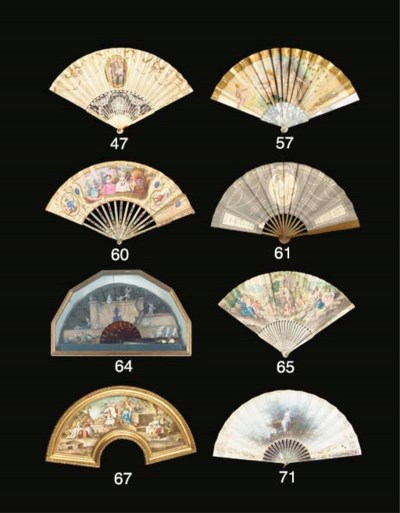 A fan, the fabric leaf painted