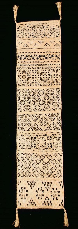 A fine needlelace linen sample