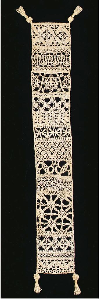 A rare  bobbin lace sampler, o