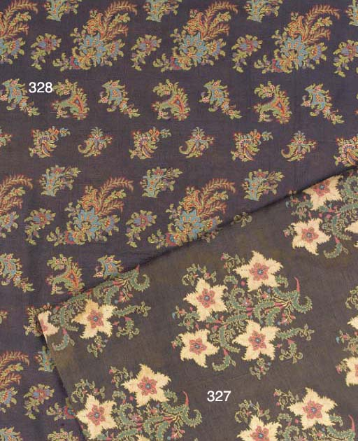 A fine silk shawl, the ground