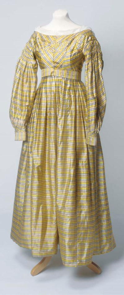 A lady's day dress of yellow,