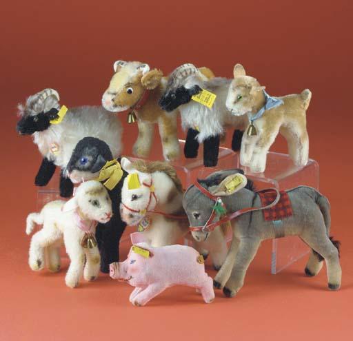 Steiff farm yard animals