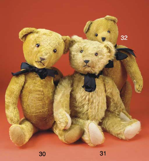 A golden short mohair teddy be