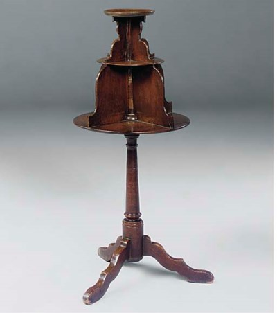 AN ENGLISH REVOLVING STAND