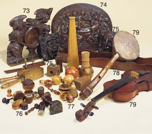 A collection of treen objects