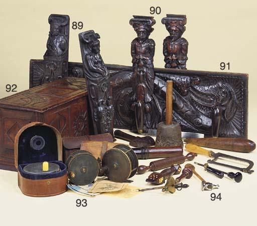 A George II carved wood box