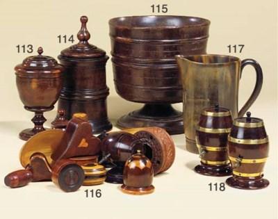 An English turned laburnum jar