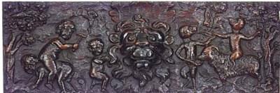 A Flemish oak relief panel