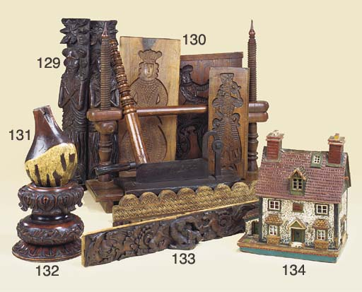 An early Victorian carved wood
