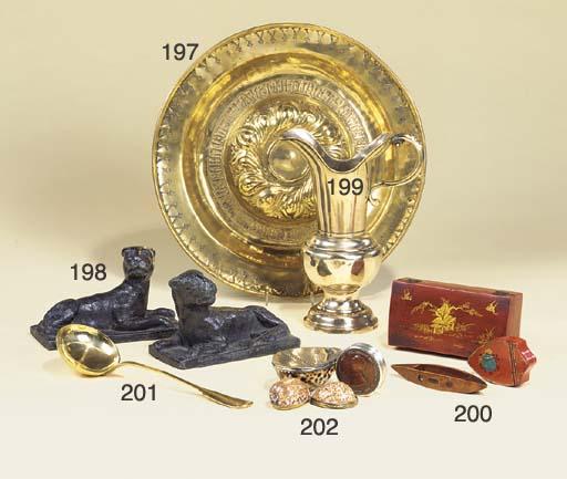 A Nuremberg brass alms dish