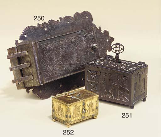 A Nuremberg brass minnekastche