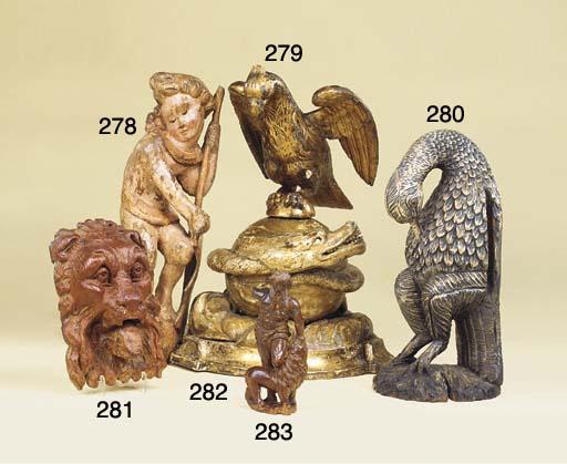 A German limewood figure of Sa