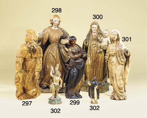 A Provencal lime wood figure o