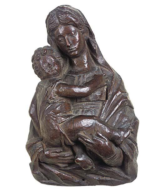 An Italian carved walnut bust
