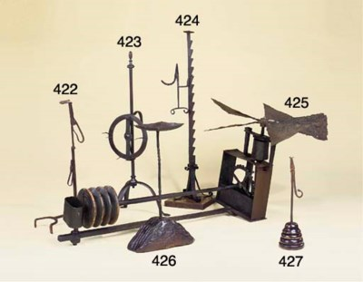 A wrought iron adjustable rush