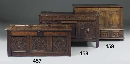 AN ENGLISH CARVED AND INLAID P