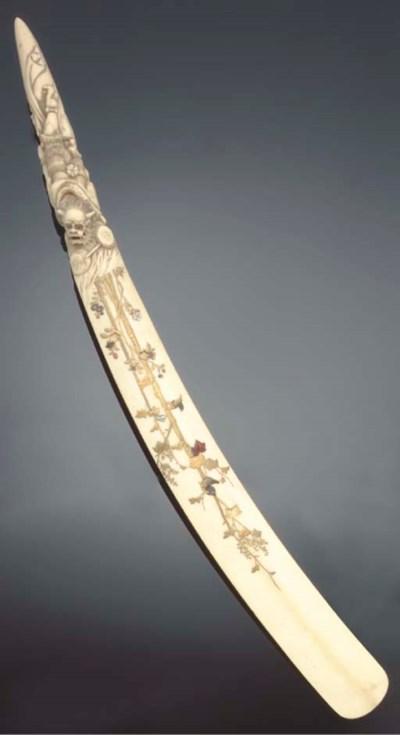 A Japanese ivory shibayama-sty