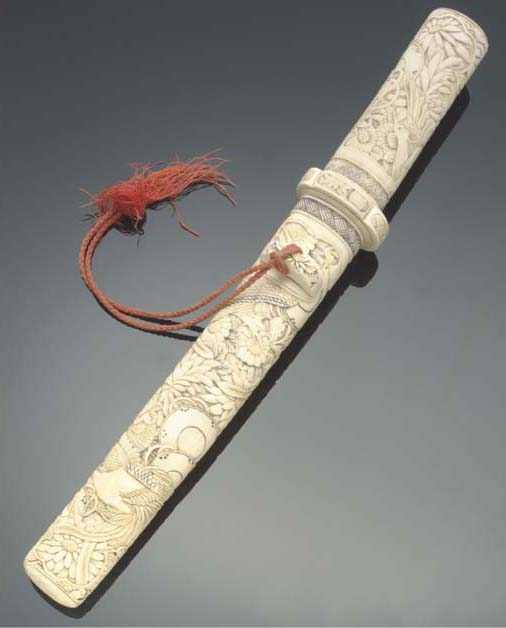 A Japanese bone tanto, 19th ce