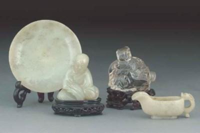 A Chinese celadon jade model o
