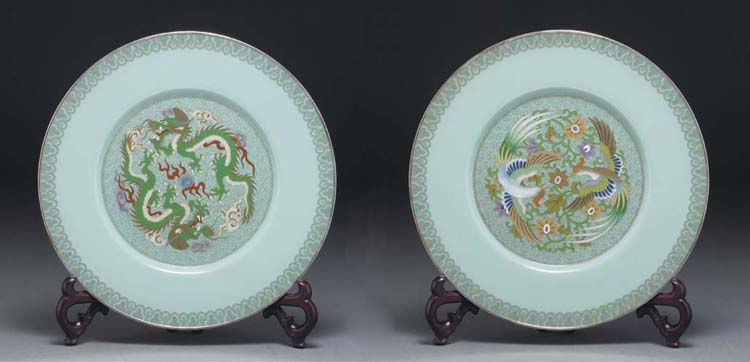 A pair of Japanese cloisonne A