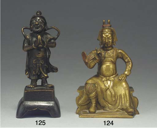 A small Chinese bronze model o