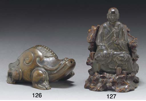 A Chinese bronze waterdropper,