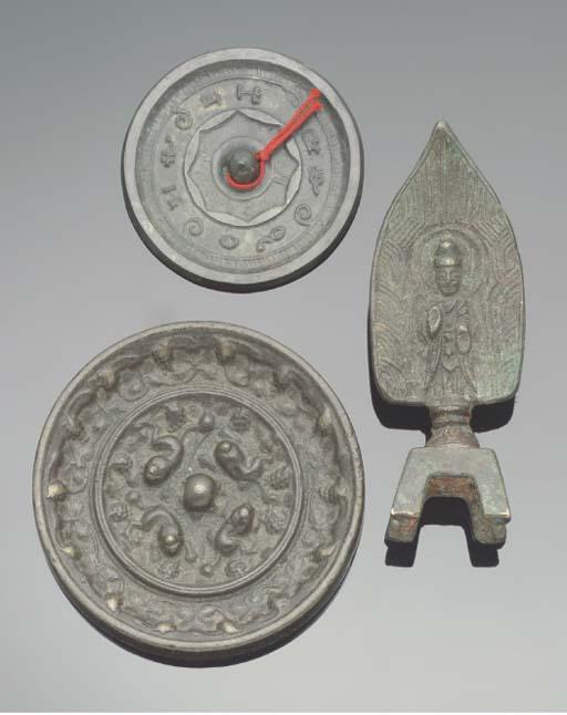 Two Chinese bronze mirrors, Ta