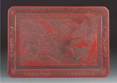 A Chinese cinnabar lacquer rec