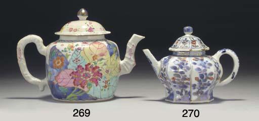 A Chinese tobacco leaf teapot