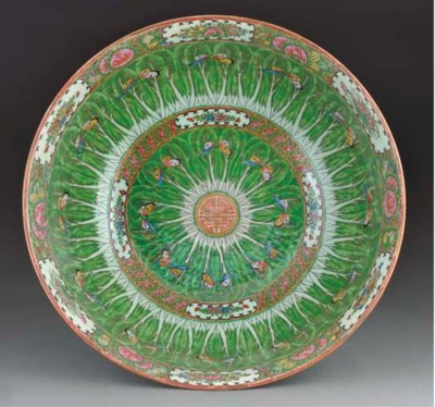 A Cantonese punchbowl, 19th Ce