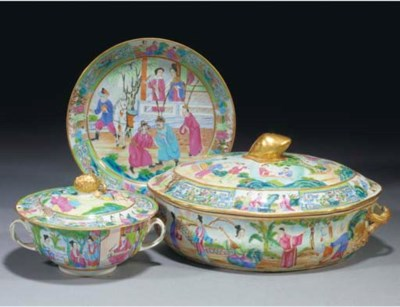 A Cantonese tureen and cover,