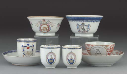 A Chinese Export armorial sugar bowl, 18th and 19th Century
