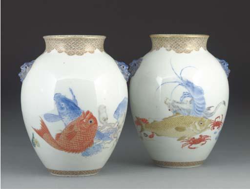 A pair of Japanese Fukugawa ov