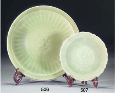 A Chinese Longquan celadon gla