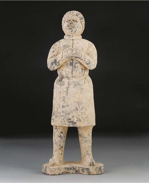 A Chinese pottery model of a European gentleman, Tang dynasty