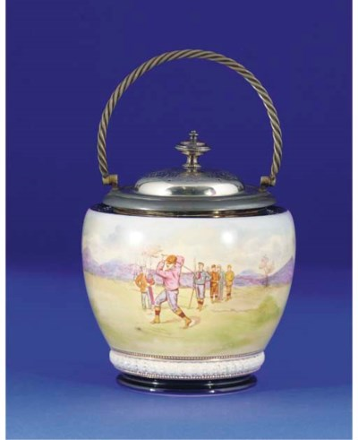 A W & W CO. BISCUIT BARREL AND