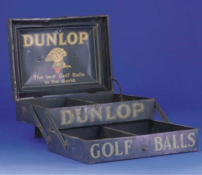 A RARE DUNLOP TWO-SECTION TIN