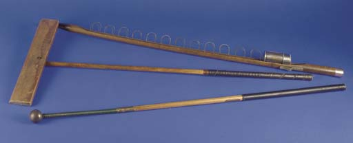 TWO HICKORY-SHAFTED PRO SWING